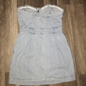 Forever 21 Jeans - Jean button up pines stripped dress by Forever 21